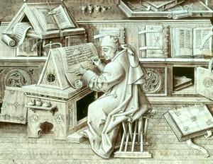Monje escribano
